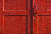 Old red door — Stock Photo