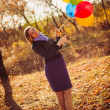 Girl with ballons — Stock Photo #21009023