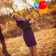 Stock Photo: Girl with ballons