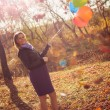 Girl with ballons — Stock Photo #21009065
