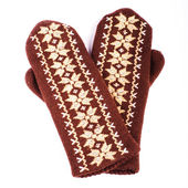 Brown mittens — Stock Photo