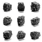 Pedaços de carvão — Foto Stock