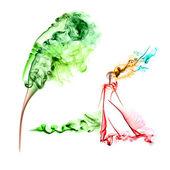 Wind and smoke — Stock Photo