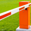 Red and white closed barrier — Stock Photo #39025107