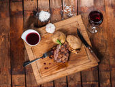 Steak with spices — Stock Photo