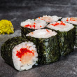 Постер, плакат: Hotate maki rolls with scallop