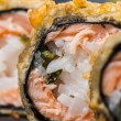 Stock Photo: Tempurroll with salmon and scallop