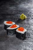 Rolls with salmon and prawn — 图库照片