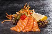 Fatias de salmão — Fotografia Stock