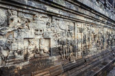 Bas-relief in Borobudur — Stock Photo