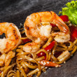 Udon noodles with prawns — Stock Photo #40392277