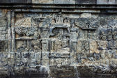 Bas-relief in Borobudur — Stockfoto