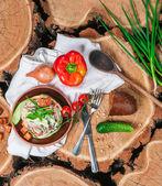 Sałatka w sos majonez — Zdjęcie stockowe