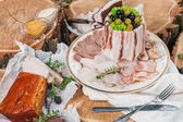 Meats on a plate — Stockfoto