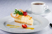 Orange cheesecake — Stock Photo