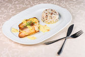 Grilled halibut — Foto Stock