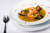 Soup with seafood — Foto Stock