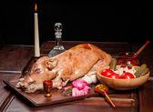 Fried piglet — Stock Photo