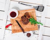 Steak s kořením — Stock fotografie