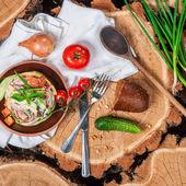 Salada com molho de maionese — Fotografia Stock