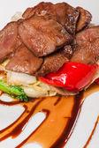 烩牛肉配蔬菜 — 图库照片