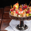 Various kinds of canapes — Stock Photo #43259075