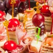 Various kinds of canapes — Stock Photo #43259467
