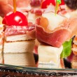 Various kinds of canapes — Stock Photo #43261147