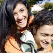 Couple laughing having much fun — Stock Photo #39386157