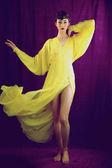 Filtered fashion model posing — Stock Photo
