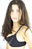 Gorgeous female model in lingerie looking — Foto Stock