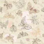 Butterflies seamless background — Stock Vector #12687454
