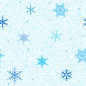 Seamless Snowflakes vector background. — Stock Vector