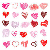 爱。孤立的心图. — 图库矢量图片