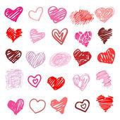 Seviyorum. kalp illüstrasyon izole. — Stok Vektör