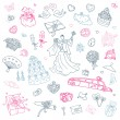 Wedding set. Hand drawn illustration. — Stock Vector #18820933