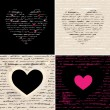 Heart illustration set. Love. Vector background. — Vettoriali Stock