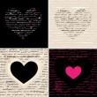 hart afbeelding instellen. liefde. vector achtergrond — Stockvector