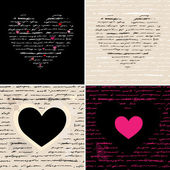 Ensemble de coeur d'illustration. amour. vector background. — Vecteur
