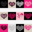 Heart illustration set. Love. Vector background. — Stock Vector #18901589