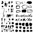 Royalty-Free Stock Vector Image: Ink splatters. Grunge design elements collection.