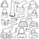 Women's handbags. Hand drawn Vector Set 1. — Stock Vector #19747445