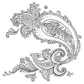 Hand Drawn Paisley ornament. — Stock Vector