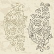 Stock Vector: Hand Drawn Paisley ornament.