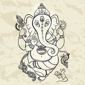 Ganesha Hand drawn illustration. — Stock Vector