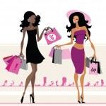 Women shopping bags — Stock Vector #29745057