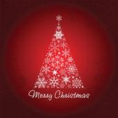 雪のクリスマス ツリー. — ストックベクタ