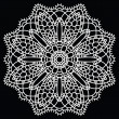 Stock Vector: Crochet lace mandala.