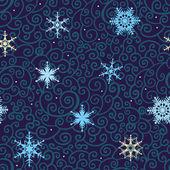 Nahtlose schneeflocken vektor hintergrund. — Stockvektor
