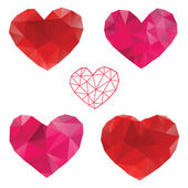 Heart. Love. Set of design elements. — Stock Vector